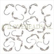 SILVER CLAMSHELL KNOT COVERS, CUP IS 3.8MM