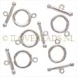 TOGGLE CLASPS STERLING SILVER, TOGGLE CLASP 925 SILVER 9MM