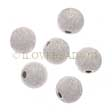 SILVER BEADS - 925 STERLING SILVER STARDUST BEADS 6MM