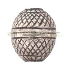 Thai Silver Tribe Beads, Silver Bead Woven 18.5x15mm