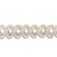 FRESHWATER PEARLS BEADS – BUTTON BEADS 6x3.5MM - CREAM WHITE