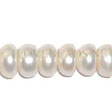 FRESHWATER PEARLS BEADS – BUTTONS 9X6MM - CREAM WHITE