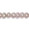 FRESHWATER PEARLS BEADS – RONDELLES, BUTTON 8x4MM - MAUVE